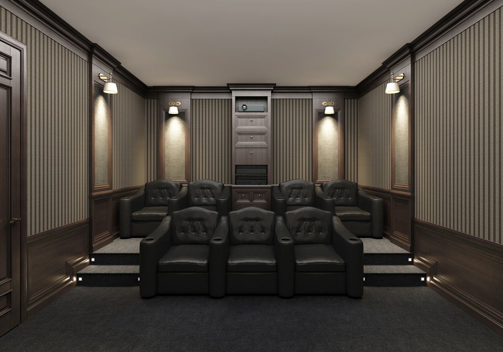home theater basement tier seating