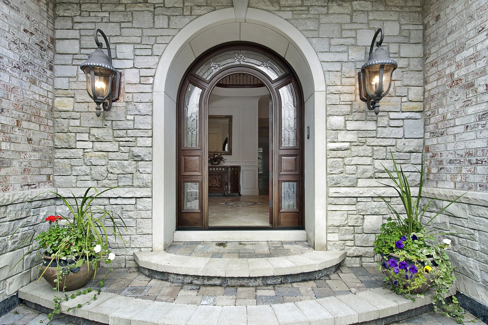 Photo of an arch door