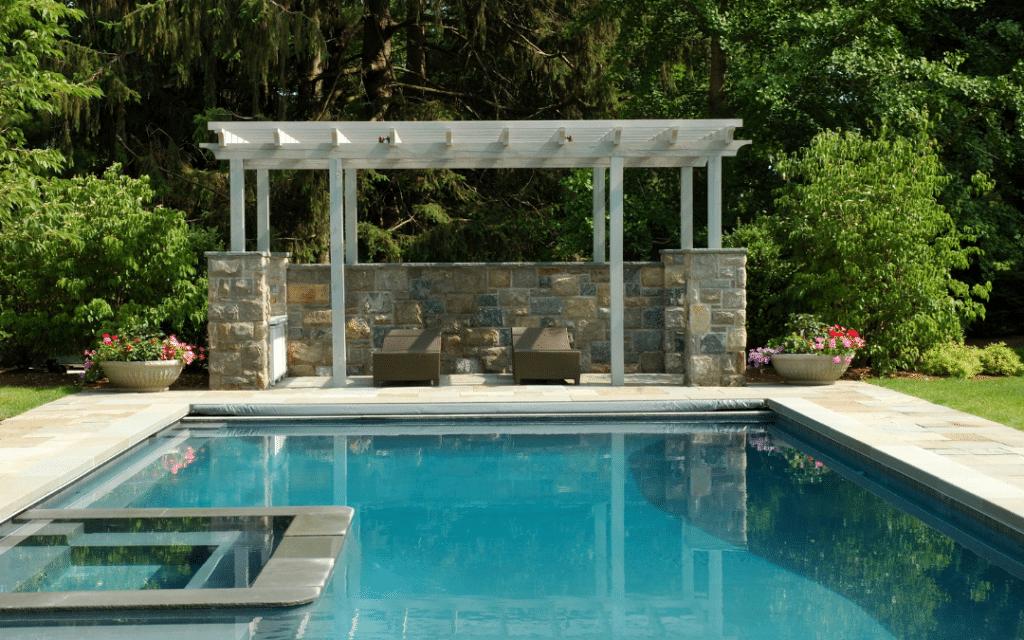 pergola backyard pool